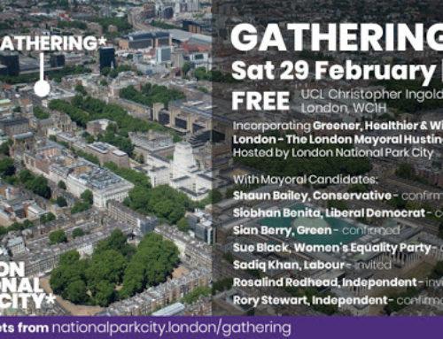 National Park City: London Mayoral Hustings, 29.02.2020.