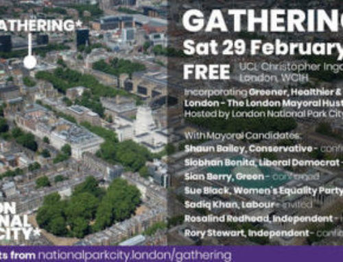 National Park City: London Mayoral Hustings, 29.02.2020.
